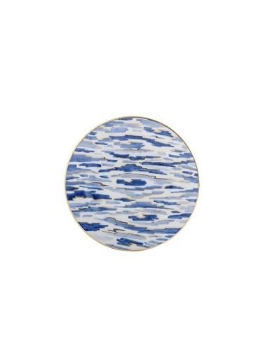 Güral Porselen Güral Porselen El Dekoru Pasta Seti Mavi 7 Parça Mavi
